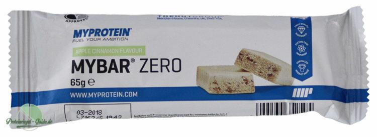 Myprotein-Mybar-Zero-Test-Verpackung